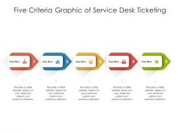 Five Criteria Graphic Of Service Desk Ticketing Infographic Template