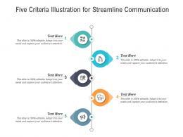 Five Criteria Illustration For Streamline Communication Infographic Template