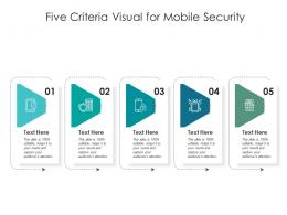 Five Criteria Visual For Mobile Security Infographic Template