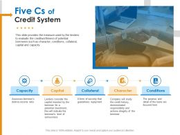 Five Cs Of Credit System Seriousness Ppt Powerpoint Presentation Professional Gallery