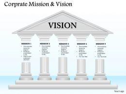 20352629 Style Essentials 1 Our Vision 5 Piece Powerpoint Presentation Diagram Infographic Slide