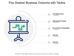 Five Desired Business Outcome With Tactics