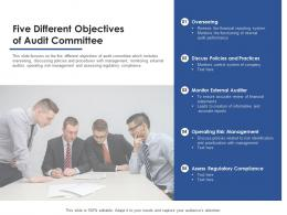Five Different Objectives Of Audit Committee