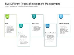 Five Different Types Of Investment Management