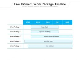 Five Different Work Package Timeline