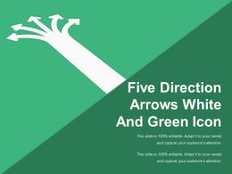 Five Direction Arrows White And Green Icon
