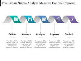 Five Dmaic Sigma Analyze Measure Control Improve Phases