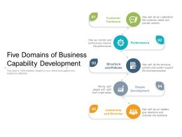 Five Domains Of Business Capability Development