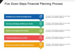 Five Down Steps Financial Planning Process
