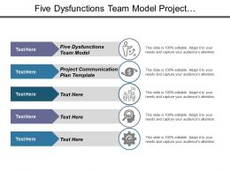 Five Dysfunctions Team Model Project Communication Plan Template Cpb