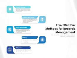 Five Effective Methods For Records Management