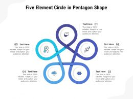 Five Element Circle In Pentagon Shape