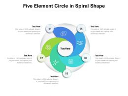 Five Element Circle In Spiral Shape