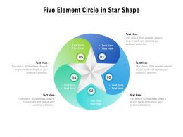 Five Element Circle In Star Shape