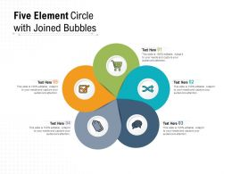 Five Element Circle With Joined Bubbles