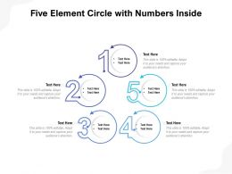 Five Element Circle With Numbers Inside