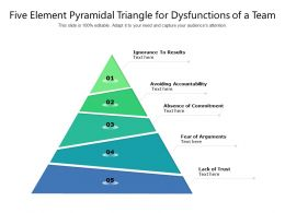 Five Element Pyramidal Triangle For Dysfunctions Of A Team