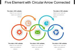 Five Element With Circular Arrow Connected