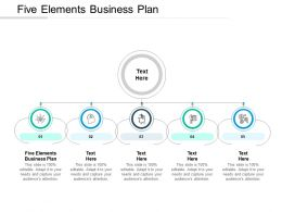 Five Elements Business Plan Ppt Powerpoint Presentation Styles Design Ideas Cpb