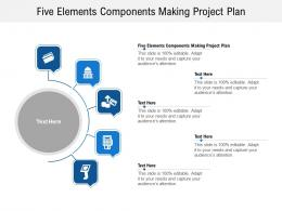 Five Elements Components Making Project Plan Ppt Powerpoint Presentation Infographics Microsoft Cpb