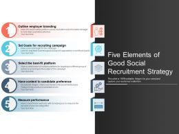 Five Elements Of Good Social Recruitment Strategy