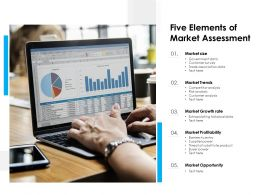 Five Elements Of Market Assessment