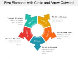 Five Elements With Circle And Arrow Outward