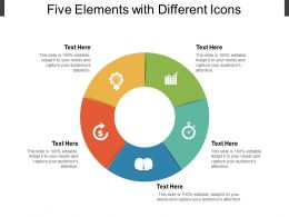 Five Elements With Different Icons