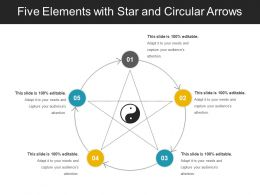 Five Elements With Star And Circular Arrows