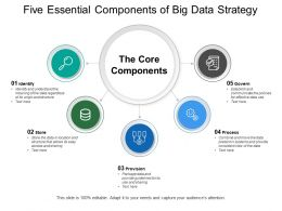 Five Essential Components Of Big Data Strategy