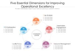 Five Essential Dimensions For Improving Operational Excellency