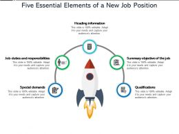 Five Essential Elements Of A New Job Position