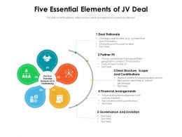 Five Essential Elements Of JV Deal