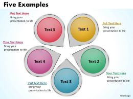 Five Examples Powerpoint Slides Presentation Diagrams Templates