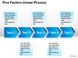five factors linear process powerpoint diagram templates graphics 712