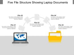 Five File Structure Showing Laptop Documents
