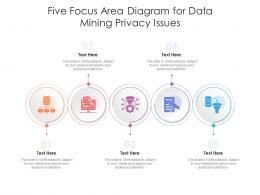 Five Focus Area Diagram For Data Mining Privacy Issues Infographic Template