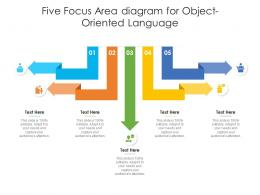 Five Focus Area Diagram For Object Oriented Language Infographic Template