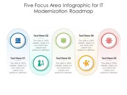 Five Focus Area For IT Modernization Roadmap Infographic Template