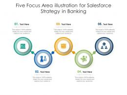 Five Focus Area Illustration For Salesforce Strategy In Banking Infographic Template