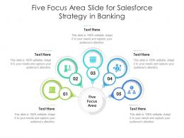 Five Focus Area Slide For Salesforce Strategy In Banking Infographic Template