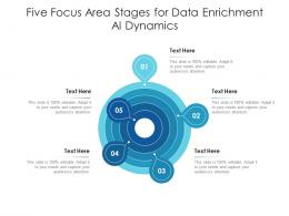 Five Focus Area Stages For Data Enrichment AI Dynamics Infographic Template