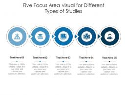 Five Focus Area Visual For Different Types Of Studies Infographic Template