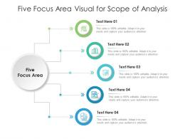 Five Focus Area Visual For Scope Of Analysis Infographic Template