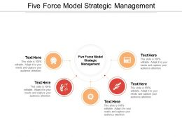 Five Force Model Strategic Management Ppt Powerpoint Presentation Objects Cpb