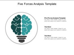 Five Forces Analysis Template Ppt Powerpoint Presentation Outline Template Cpb