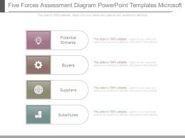 Five Forces Assessment Diagram Powerpoint Templates Microsoft