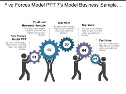 Five Forces Model Ppt 7s Model Business Sample Cpb