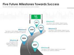 Five Future Milestones Towards Success