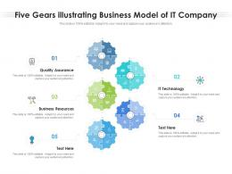 Five Gears Illustrating Business Model Of IT Company